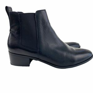 Steve Madden Black Leather Dover Chelsea Boots